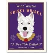 Dog Westie - Wild Westie 8x10 Print