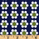 Lime Flowers on Dark Blue Puppy Belly Band CLEARANCE