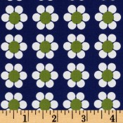 Lime Flowers on Dark Blue </br>Puppy Belly Band CLEARANCE