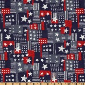 Patriotic Patchwork Puppy Belly Band CLEARANCE
