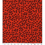 Red with Black Paw Prints </br>Puppy Belly Band
