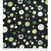 Shamrocks in Circles on Black </br>Puppy Belly Band