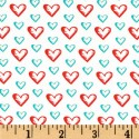 Red Sweet Hearts Aqua Puppy Belly Band CLEARANCE