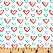Red Sweet Hearts Aqua </br>Puppy Belly Band CLEARANCE