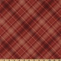 Plaid Cranberry Red Puppy Belly Band CLEARANCE
