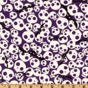 Bats and Skulls Puppy Belly Band CLEARANCE