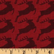 Holiday Reindeers Red Puppy Belly Band CLEARANCE