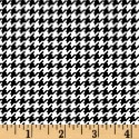 Houndstooth Black and White Puppy Belly Band