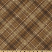 Plaid Chocolate Puppy Belly Band CLEARANCE