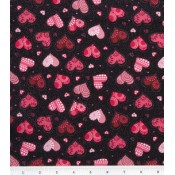 Red Hearts Puppy Belly Band CLEARANCE