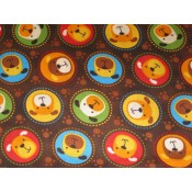 Cartoon Dogs in Circles </br>Puppy Belly Band CLEARANCE