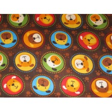 Cartoon Dogs in Circles Puppy Belly Band CLEARANCE