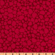 Red Hearts on Red Puppy Belly Band