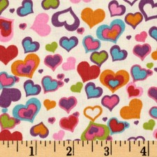Red and Multi-Color Hearts Puppy Belly Band CLEARANCE