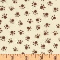 Chocolate Paws on Ivory Puppy Belly Band CLEARANCE