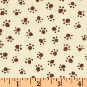 Chocolate Paws on Ivory </br>Puppy Belly Band CLEARANCE