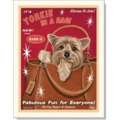Dog Yorkshire Terrier - Yorkie in a Bag 8x10 Print