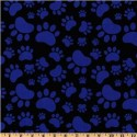 Blue Paws on Black Puppy Belly Band CLEARANCE