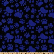 Blue Paws on Black </br>Puppy Belly Band CLEARANCE