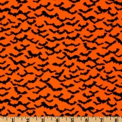 Black Bats on Orange Puppy Belly Band CLEARANCE **SMALL ONLY**