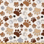 Brown and Khaki Paws </br>Puppy Belly Band CLEARANCE