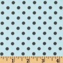 Chocolate Polk-a-dots on Blue Puppy Belly Band CLEARANCE