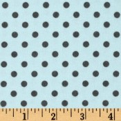 Chocolate Polk-a-dots on Blue </br>Puppy Belly Band CLEARANCE