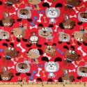 Fido Dog on Red Puppy Belly Band CLEARANCE