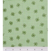 Green Clovers on Gingham Puppy Belly Band CLEARANCE
