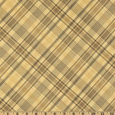 Plaid Tan Puppy Belly Band CLEARANCE