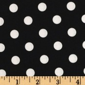 White Polk-a-dot on Black </br>Puppy Belly Band