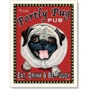 Dog Pug - Portly Pug 8x10 Print