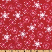 Holiday Snowflakes and Starbursts Red </br>Puppy Belly Band