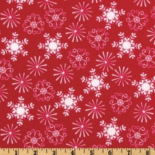 Holiday Snowflakes and Starbursts Red Puppy Belly Band CLEARANCE