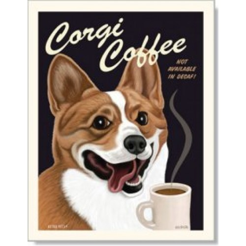 dog corgi corgi coffee