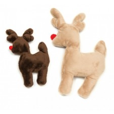 Holiday Ruff n Tuff Reindeer Dog Toy by West Paw Design