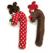 Holiday Crinkle Cane Deer Dog Toy by West Paw Design